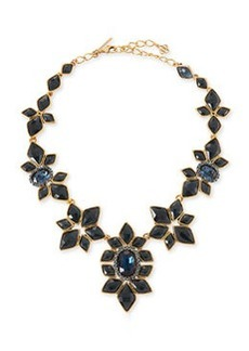 Resin-Facet Necklace, Navy   Resin-Facet Necklace, Navy