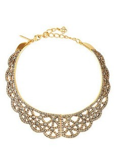 Scalloped Web Crystal Collar Necklace   Scalloped Web Crystal Collar Necklace