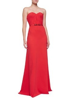 Strapless Sweetheart Gown, Tomato Red   Strapless Sweetheart Gown, Tomato Red