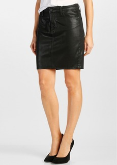Paige Denim 'Chantelle' Pencil Skirt (Black Silk)