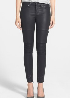 Paige Denim 'Demi' Coated Ultra Skinny Jeans (Black Silk Coating)