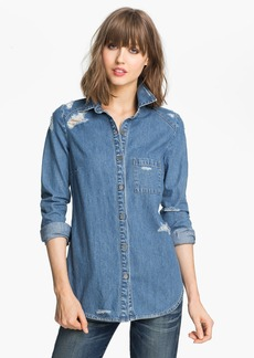 Paige Denim 'Eden' Destroyed Denim Shirt