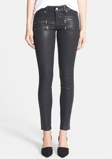 Paige Denim 'Edgemont' Coated Ultra Skinny Jeans (Black Silk)