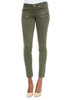 Paige Denim Edgemont Ultraskinny Zip-Pocket Jeans, Pine Green
