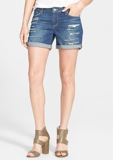 Paige Denim 'Grant' Destroyed Boyfriend Shorts (Reggie Deconstructed)