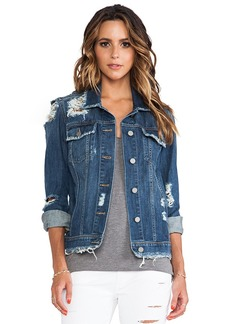 Paige Denim Heidi Oversized Jacket in Blue