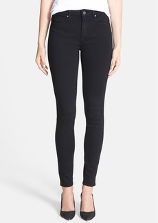 Paige Denim 'Hoxton' High Rise Ultra Skinny Stretch Jeans (Black Shadow)
