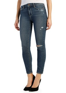 Paige Denim 'Hoxton'High Rise AnkleUltra Skinny Jeans (TorenDestructed)