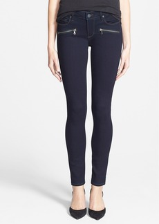 Paige Denim 'Indio' Zip Detail Ultra Skinny Jeans (Rockwell No Whiskers)