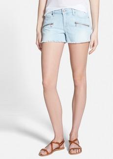 Paige Denim 'Indio' Zipper Denim Cutoff Shorts (Powell No Whiskers)