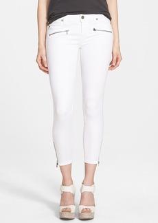 Paige Denim 'Jane' Exposed Zipper Crop Jeans (Ultra White)