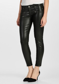 Paige Denim 'Jane' Zip Ultra Skinny Jeans (Black Silk)