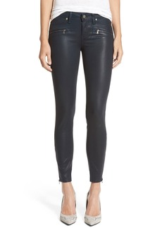 Paige Denim 'Jane' Zip Ultra Skinny Jeans (Deep Lagoon Silk)
