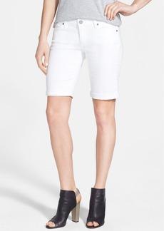 Paige Denim 'Jax' Stretch Denim Bermuda Shorts (Optic White)