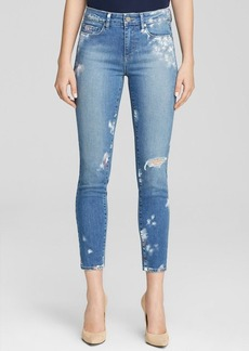 Paige Denim Jeans - Bloomingdale's Exclusive Hoxton Ankle in Indigo Artisan Paint Splatter