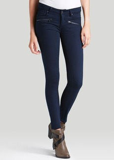 Paige Denim Jeans - Indio Zip Ultra Skinny in Midnight Navy Gunmetal