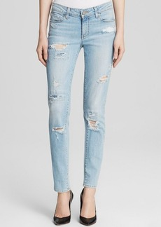 Paige Denim Jeans - Skyline Ankle Peg in Loren Destructed