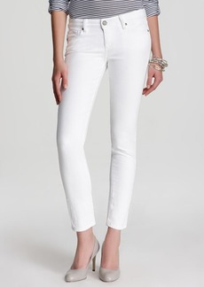 Paige Denim Jeans - Skyline Ankle Peg in Optic White