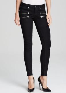Paige Denim Jeans - Transcend Edgemont Ultra Skinny in Black Shadow