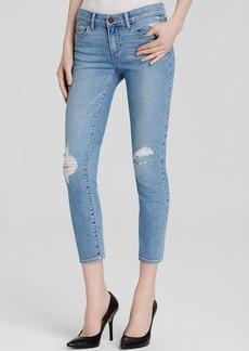 Paige Denim Verdugo Crop Jeans in Serena Destructed