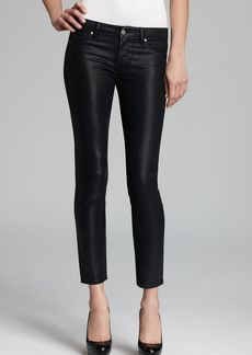 Paige Denim Jeans - Verdugo Ultra Skinny Ankle in Black Silk