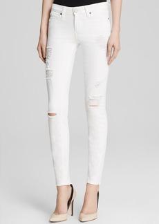 Paige Denim Jeans - Verdugo Ultra Skinny in Optic White Destructed