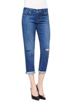 Paige Denim Jimmy Distressed Cropped Straight Jeans