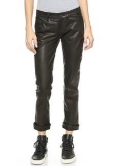 Paige Denim Jimmy Jimmy Crop Leather Pants