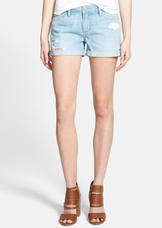 Paige Denim 'Jimmy Jimmy' Cuffed Denim Shorts (Loren Destructed Blue)