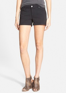 Paige Denim 'Jimmy Jimmy' Cuffed Shorts (Vintage Black)
