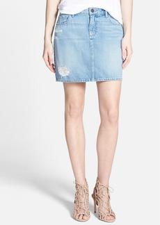 Paige Denim 'Jimmy Jimmy' Denim Skirt (Serena Destructed)