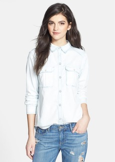 Paige Denim 'Kadie' Bleached Denim Shirt