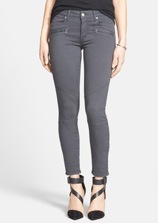 Paige Denim 'Liam' Moto Skinny Jeans (Stone Grey) (Nordstrom Exclusive)