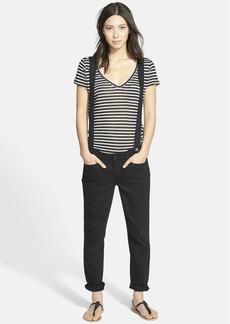 Paige Denim 'Phillipa' Boyfriend Jeans with Detachable Suspenders (Yuna No Whiskers Black)