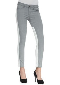 Paige Denim Quinn Two-Tone Stretch Skinny Jeans