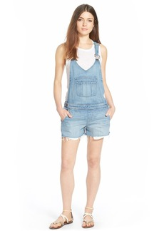Paige Denim 'Rikki' Raw Edge Shortalls (Serena)