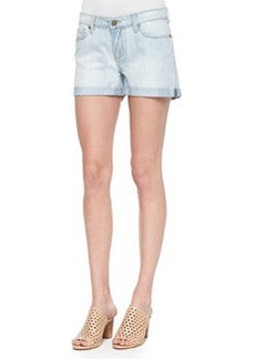 Paige Denim Sawyer Light-Wash Denim Shorts