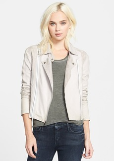 Paige Denim 'Silvie' Suede & Leather Moto Jacket
