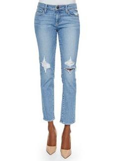 Paige Denim Skyline Boot-Cut Ankle Jeans, Serena Destructed