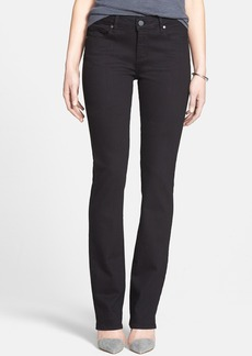 Paige Denim 'Skyline' Straight Leg Stretch Denim Jeans (Black)(Online Only)