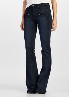 Paige Denim 'Transcend - Renata' Zip Flare Jeans (Georgie No Whiskers)
