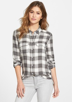 Paige Denim 'Trudy' Button Front Plaid Shirt