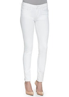 Paige Denim Verdugo Ankle Jeans W/ Raw Cuffs, Optic White