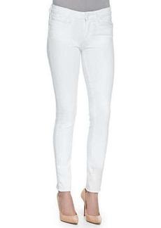 Paige Denim Verdugo Ankle Jeans W/ Raw Cuffs, Optic White