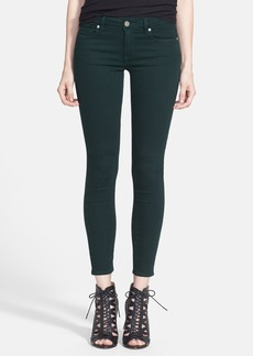 Paige Denim 'Verdugo' Ankle Skinny Jeans (Forest Green)