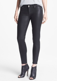Paige Denim 'Verdugo' Coated Skinny Ankle Jeans (Black Silk)