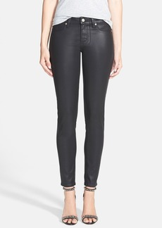 Paige Denim 'Verdugo' Coated Ultra Skinny Ankle Jeans (Black Silk)