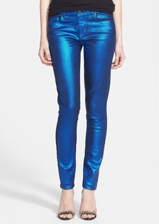 Paige Denim 'Verdugo' Coated Ultra Skinny Jeans (Blue Galaxy)