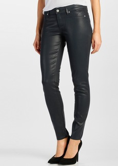 Paige Denim 'Verdugo' Coated Ultra Skinny Jeans (Deep Lagoon Silk)