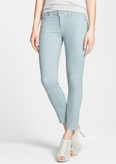 Paige Denim 'Verdugo' Crop Skinny Jeans (Dusty Blue)